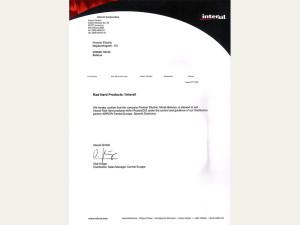 Intersil Certificate RadHard