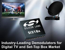 Дебют нового поколения демодуляторов для цифрового телевидения Silicon Labs