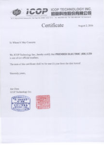ICOP distributor agreement